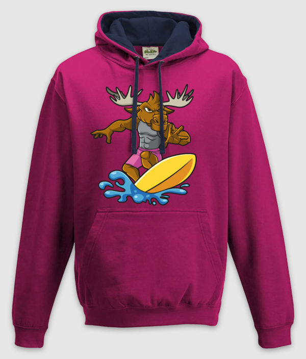 DME surf elg hoodie jh003 hot pink french navy mockup