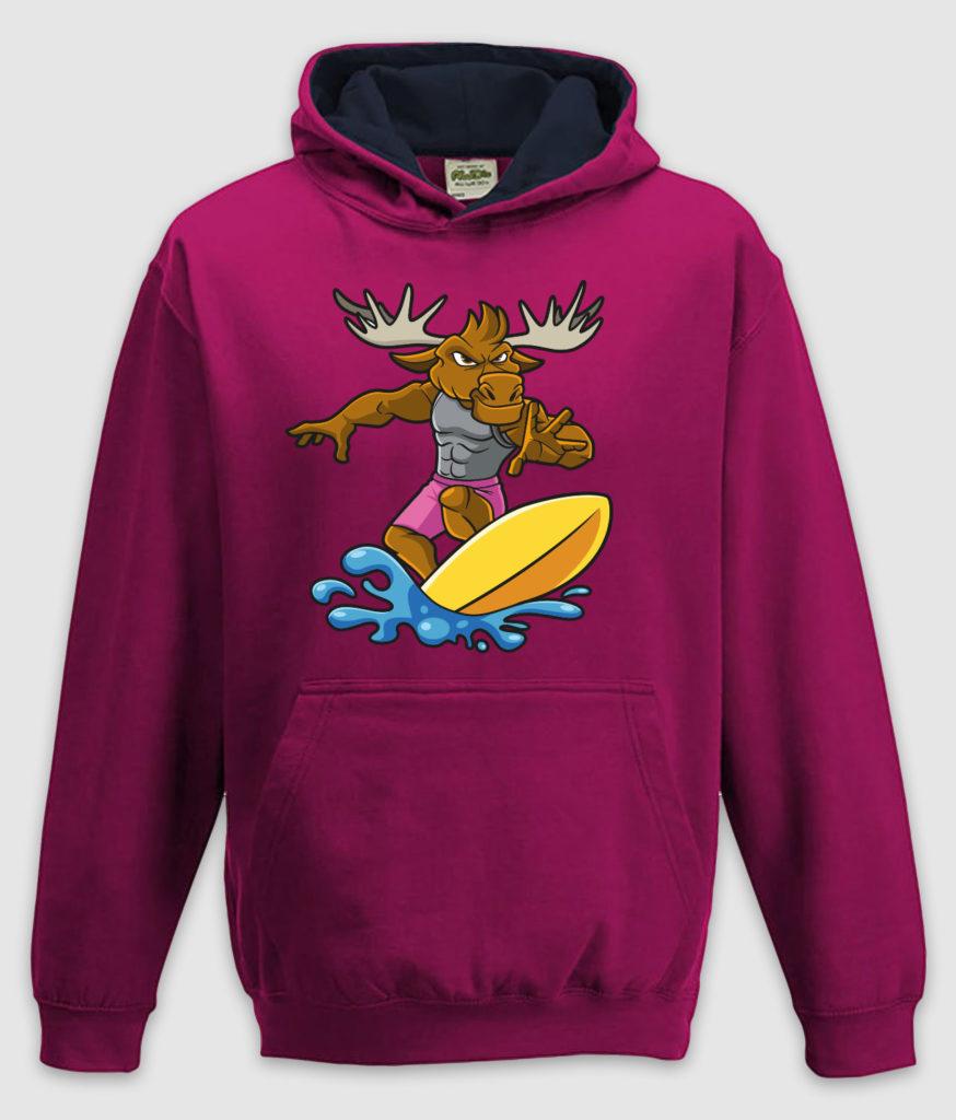 DME surf elg hoodie jh003j hot pink french navy mockup