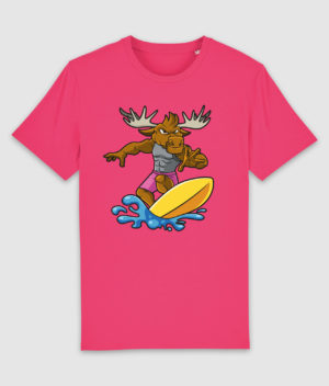 DME surf elg tshirt stanleystella creator pink punch mockup