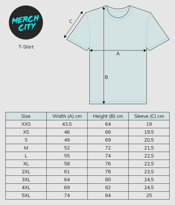 sizeguide tshirt
