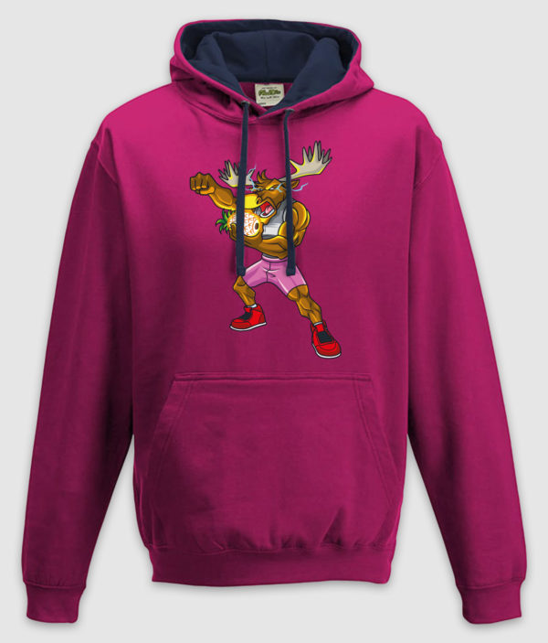 dme thanos elg hoodie hot pink french navy front