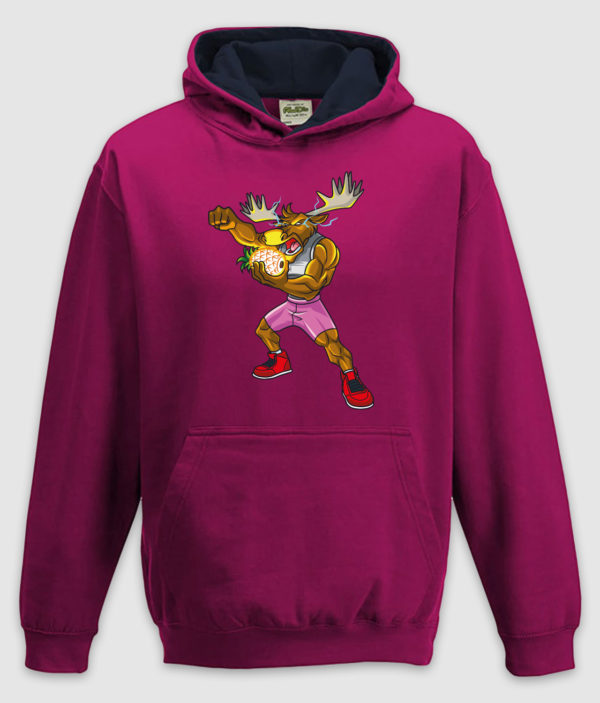dme thanos elg hoodie kids hot pink french navy front